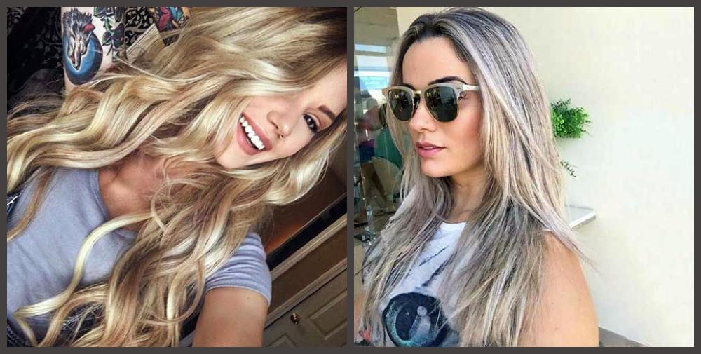 cabelo loiro 2019, ondulado e liso largo