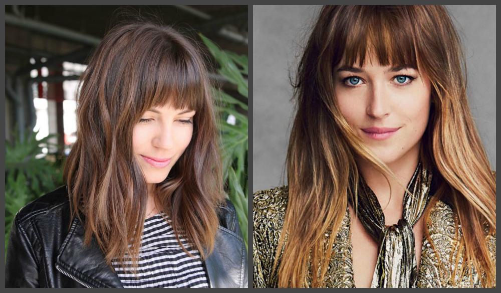 cabelos femininos 2018, corte de cabelo com franja