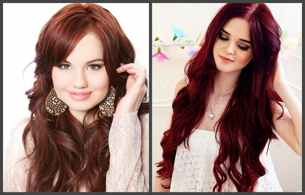 cor do cabelo 2019, cor vermelho e castanho