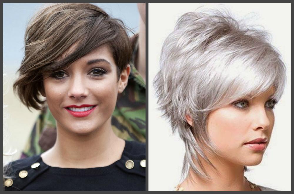 cortes de cabelo curto 2019, cabelo loiro e castanho