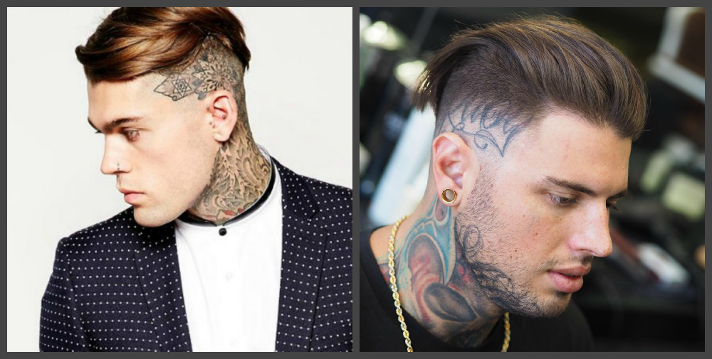 cortes de cabelo masculino 2018, undercut com tatuagem