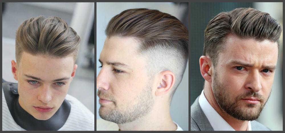 cortes de cabelo masculino 2018, deslize para tras