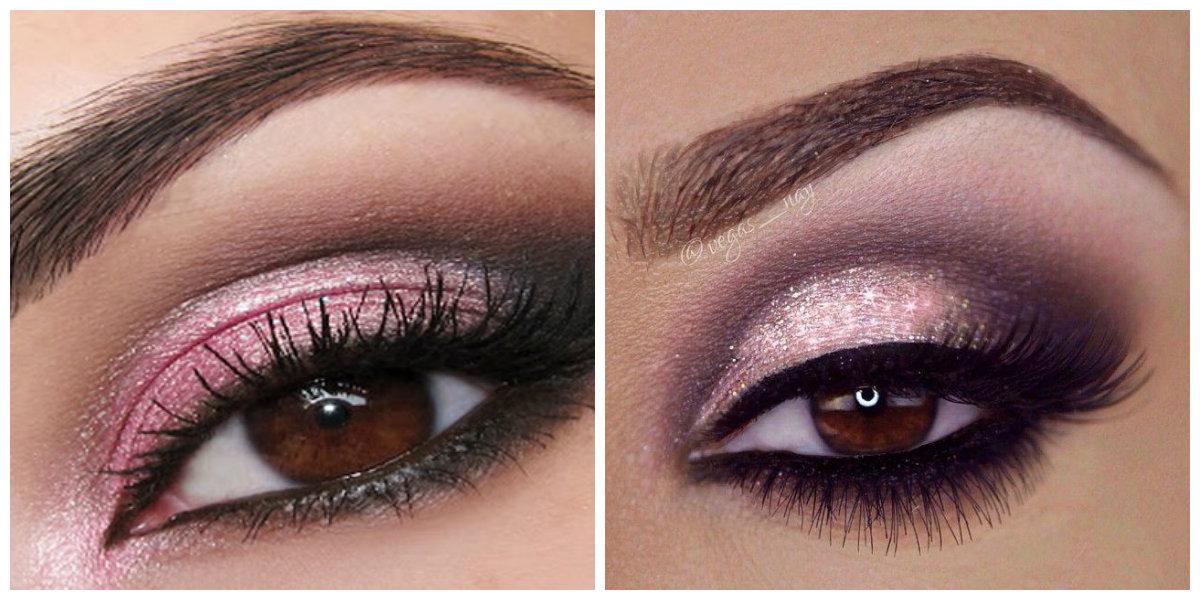 maquiagem de inverno 2018, maquiagem esfumado com cores rosa