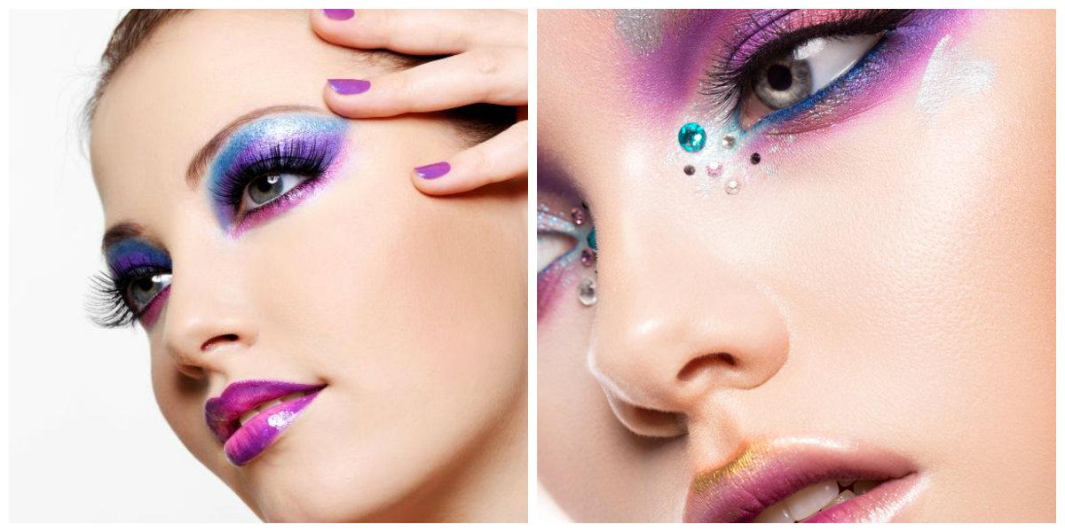 maquiagem para festa 2019, maquiagem com cores vivas