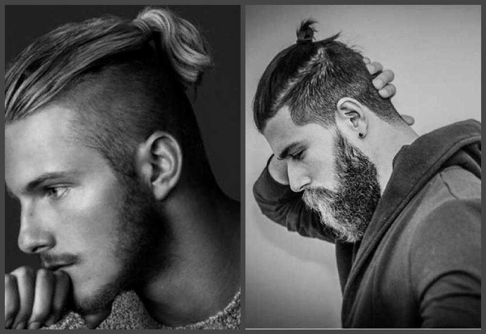 penteados masculinos 2018, rabo de cavalo