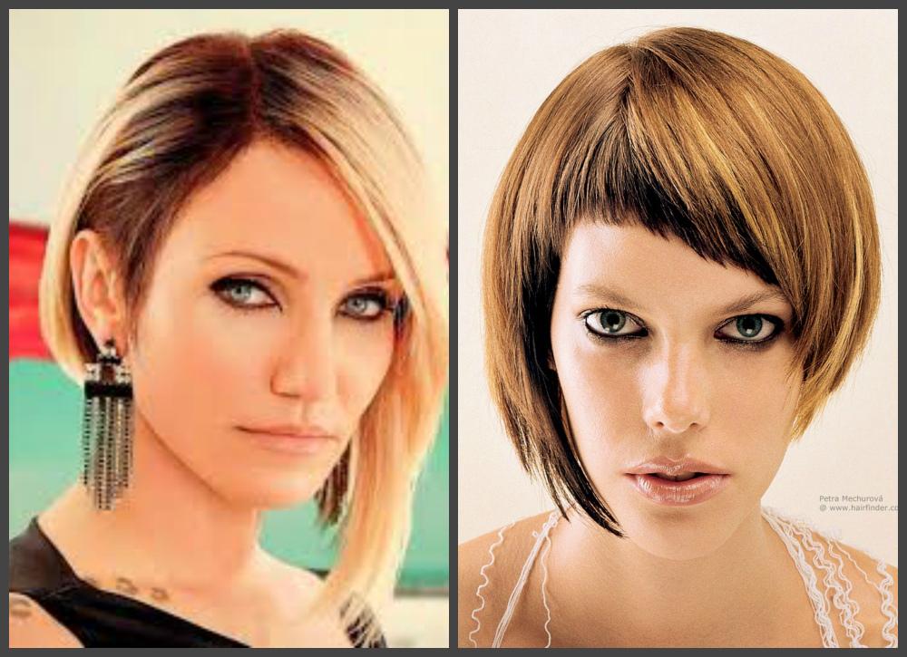 penteados para cabelos curtos 2018, corte de cabelo bob asimetrico
