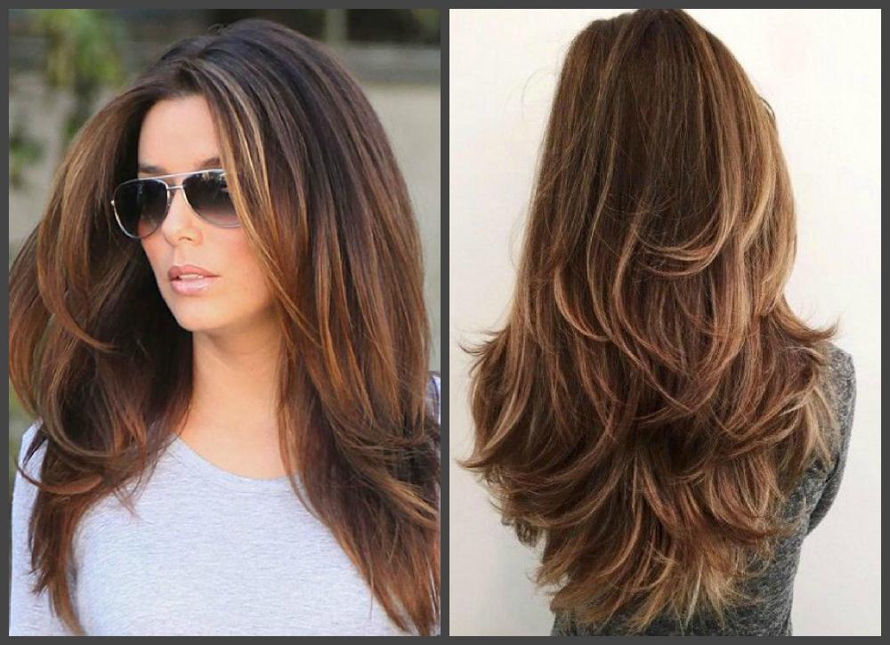 penteados para cabelos longos 2018, cabelo longo castanho