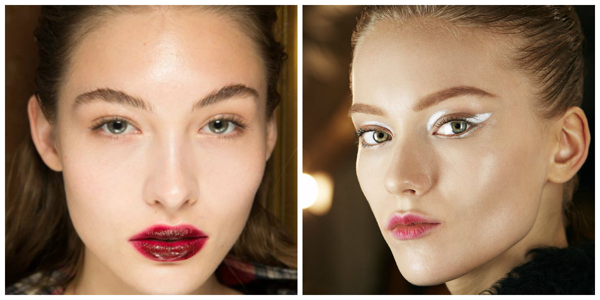 tendências de beleza 2019, maquiagem com cores mates, delineador branco