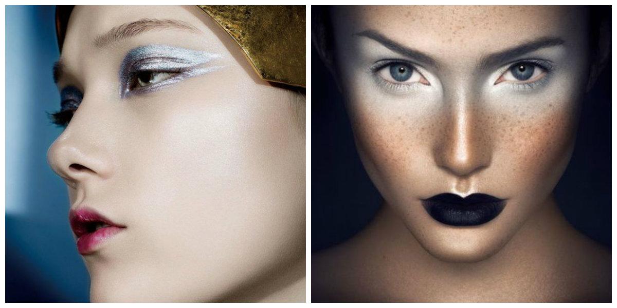 tendências de beleza 2018, maquiagem metalica