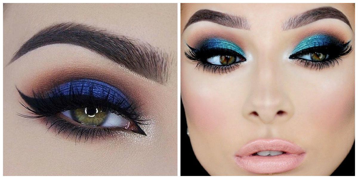 tendências de beleza 2018, maquiagem de olhos em azul