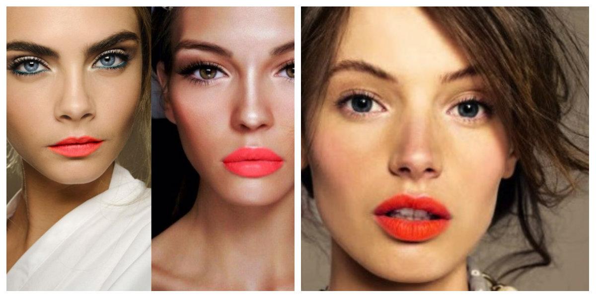 tendências de beleza 2018, labios maquiados em coral