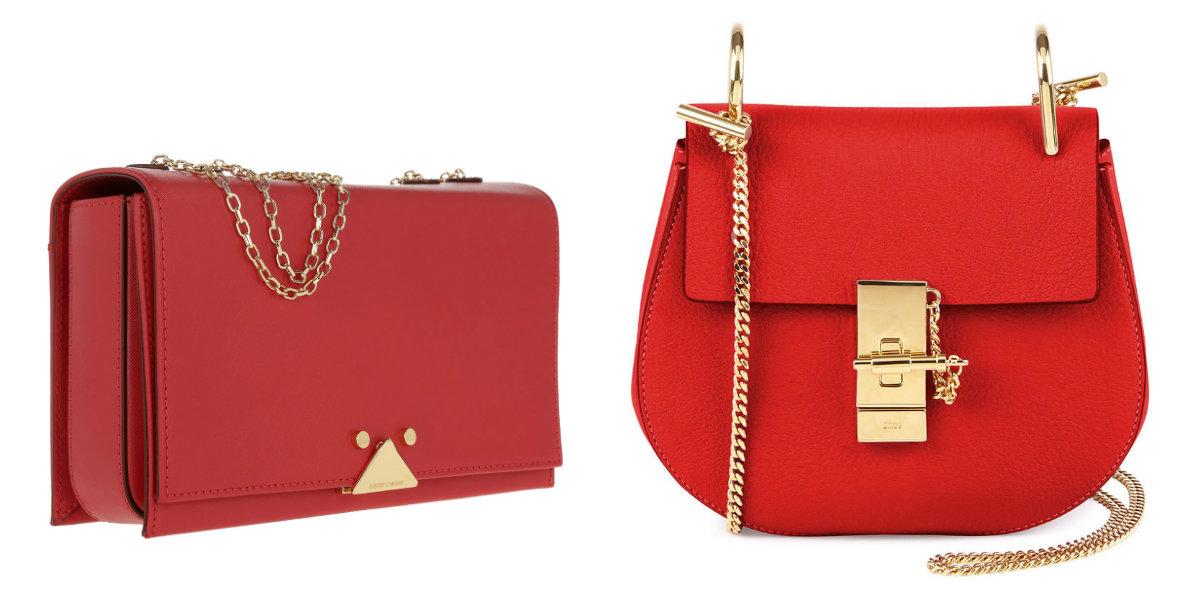 bolsas femininas 2019, bolsas de cor vermelha