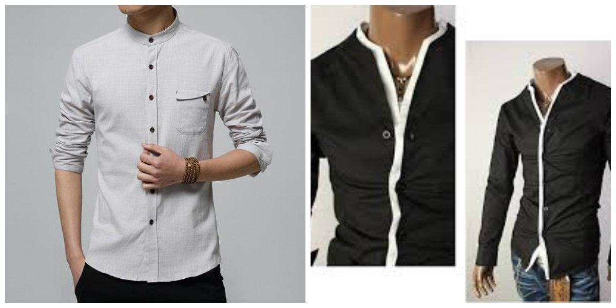 camisas masculinas 2019, camisas sem colarinho