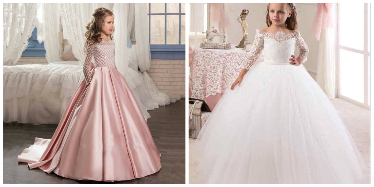 moda infantil 2019, vestidos multicamadas longas