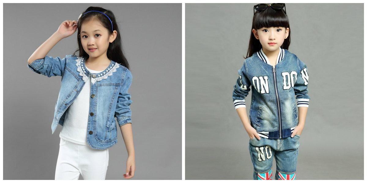 moda infantil 2019, roupas de jeans para meninas