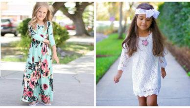 roupa infantil feminina 2018, bordados com flores