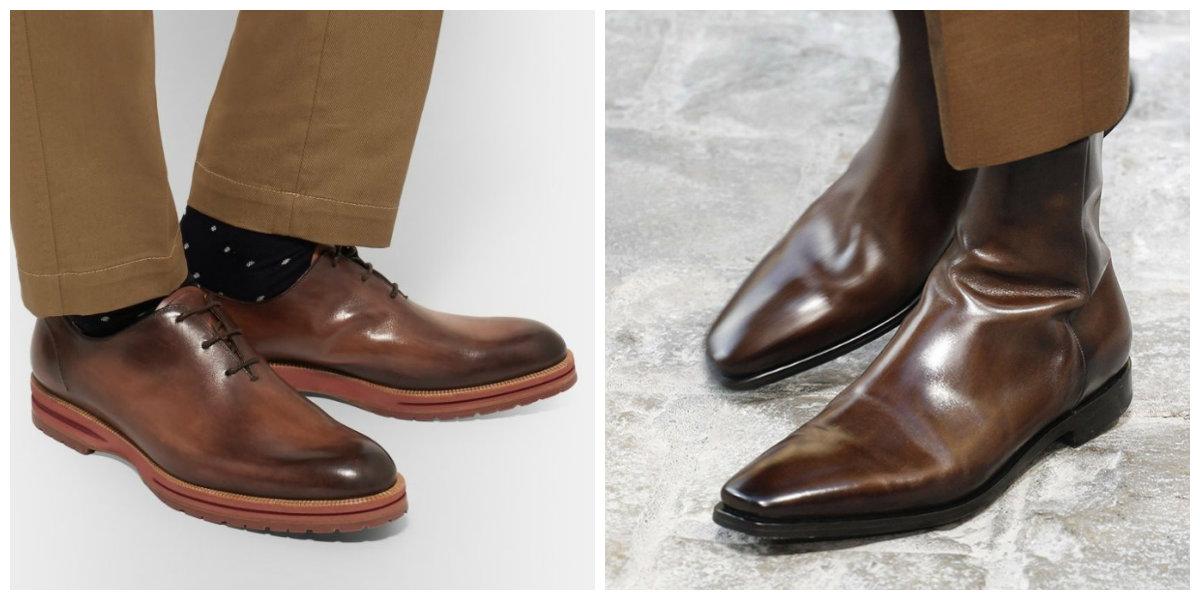 sapatos masculinos 2019, sapatos de couro, cor marrom