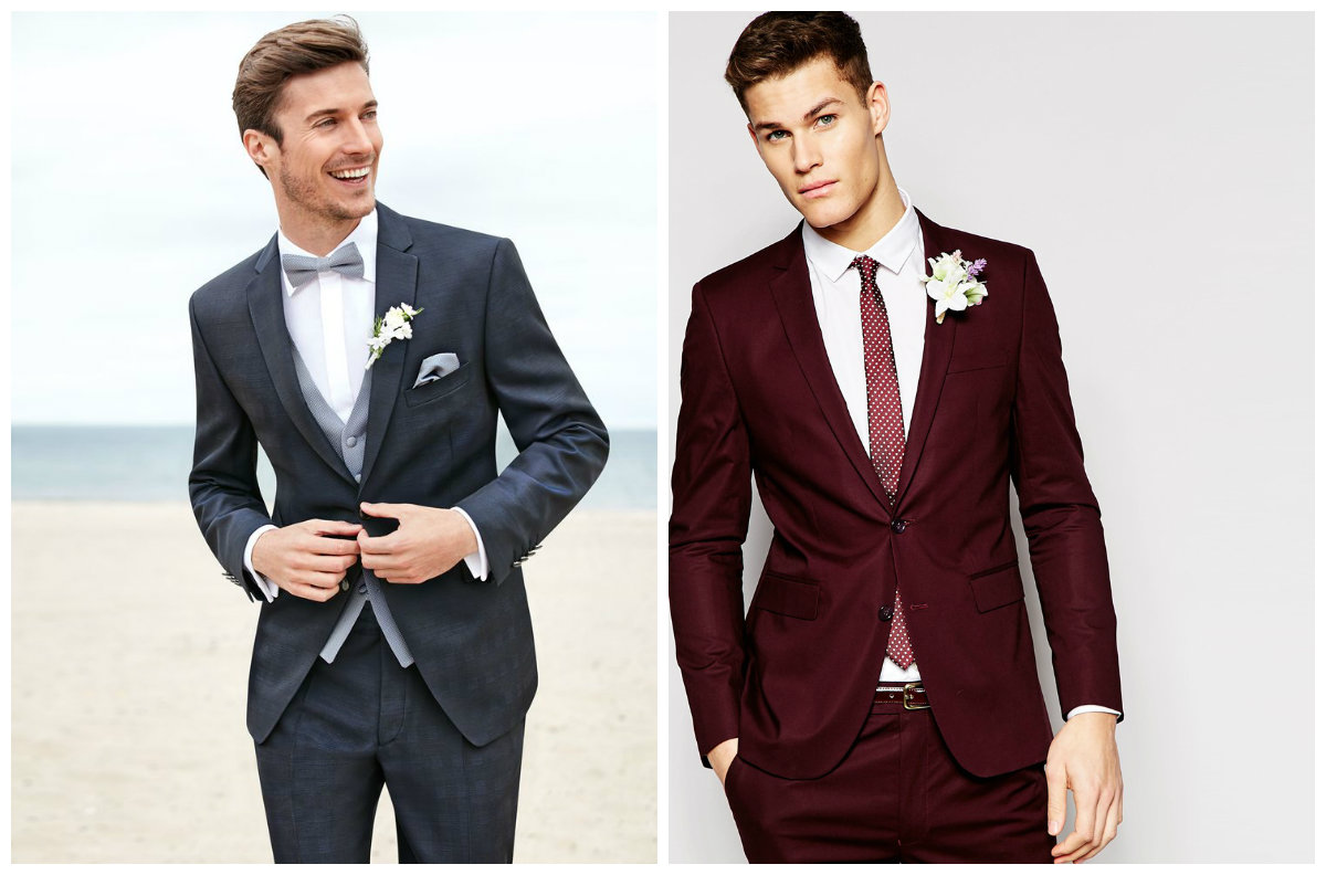 ternos para casamento 2018, ternos cinzo e marrom