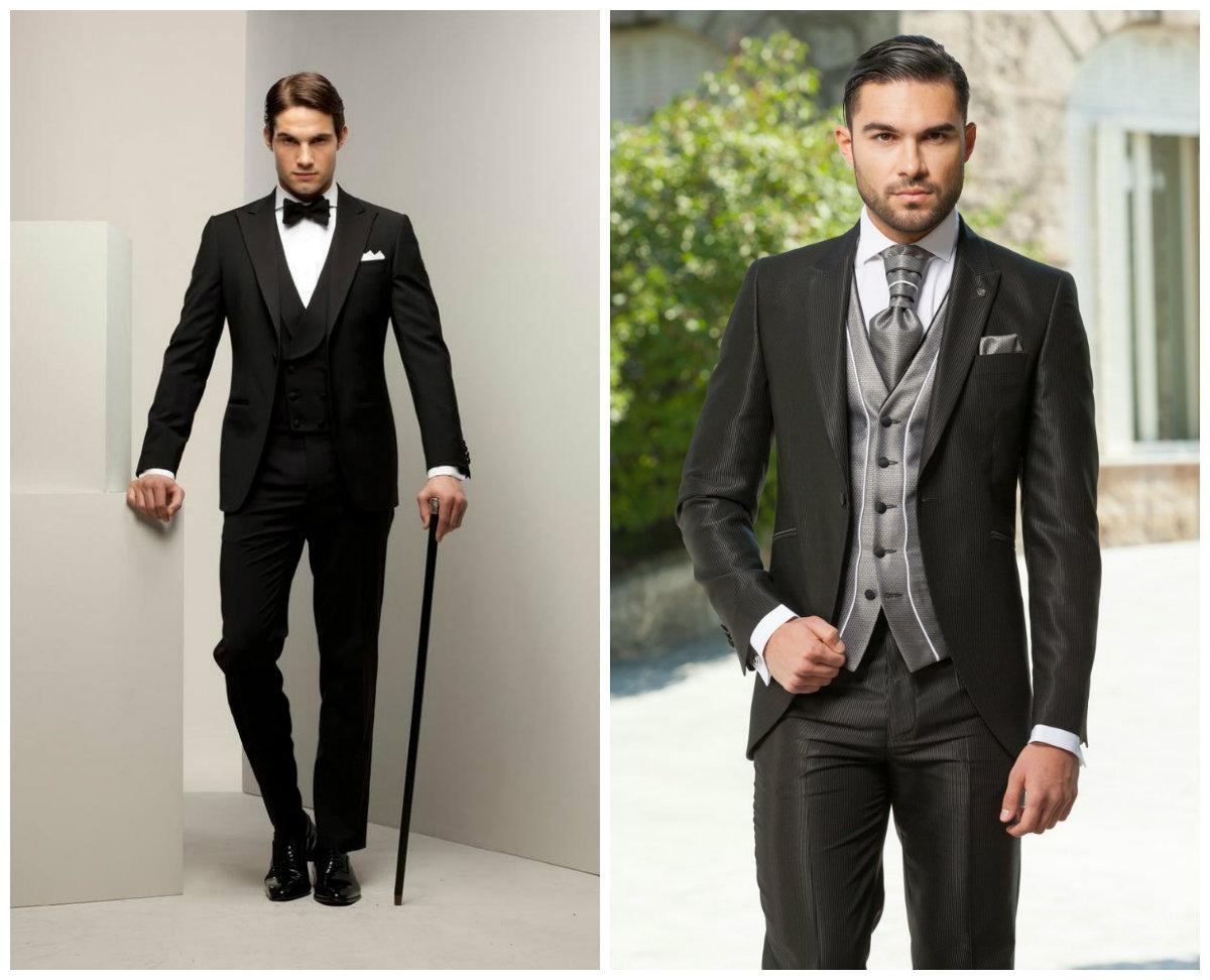 ternos para casamento 2019, ternos de cor preta e cinza
