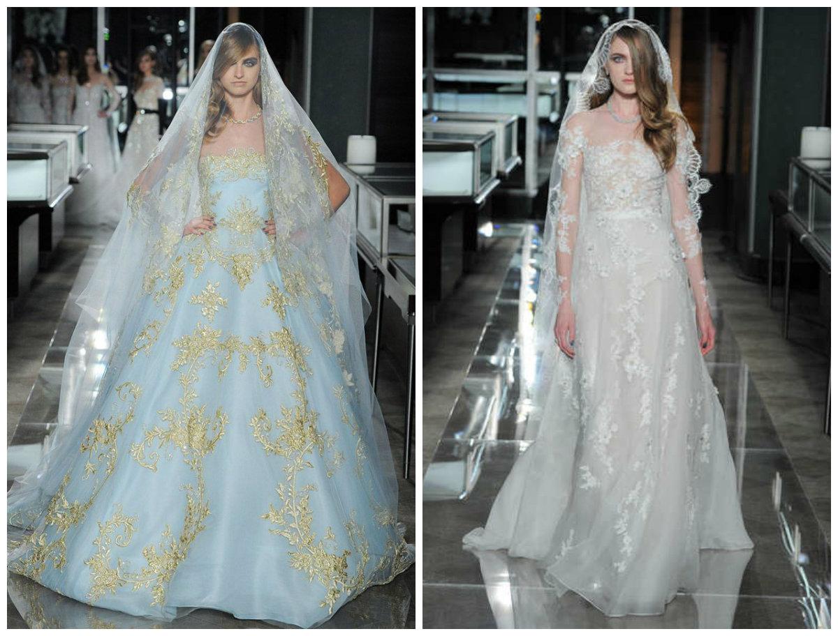 vestido de noiva 2018, vestido com tom azul