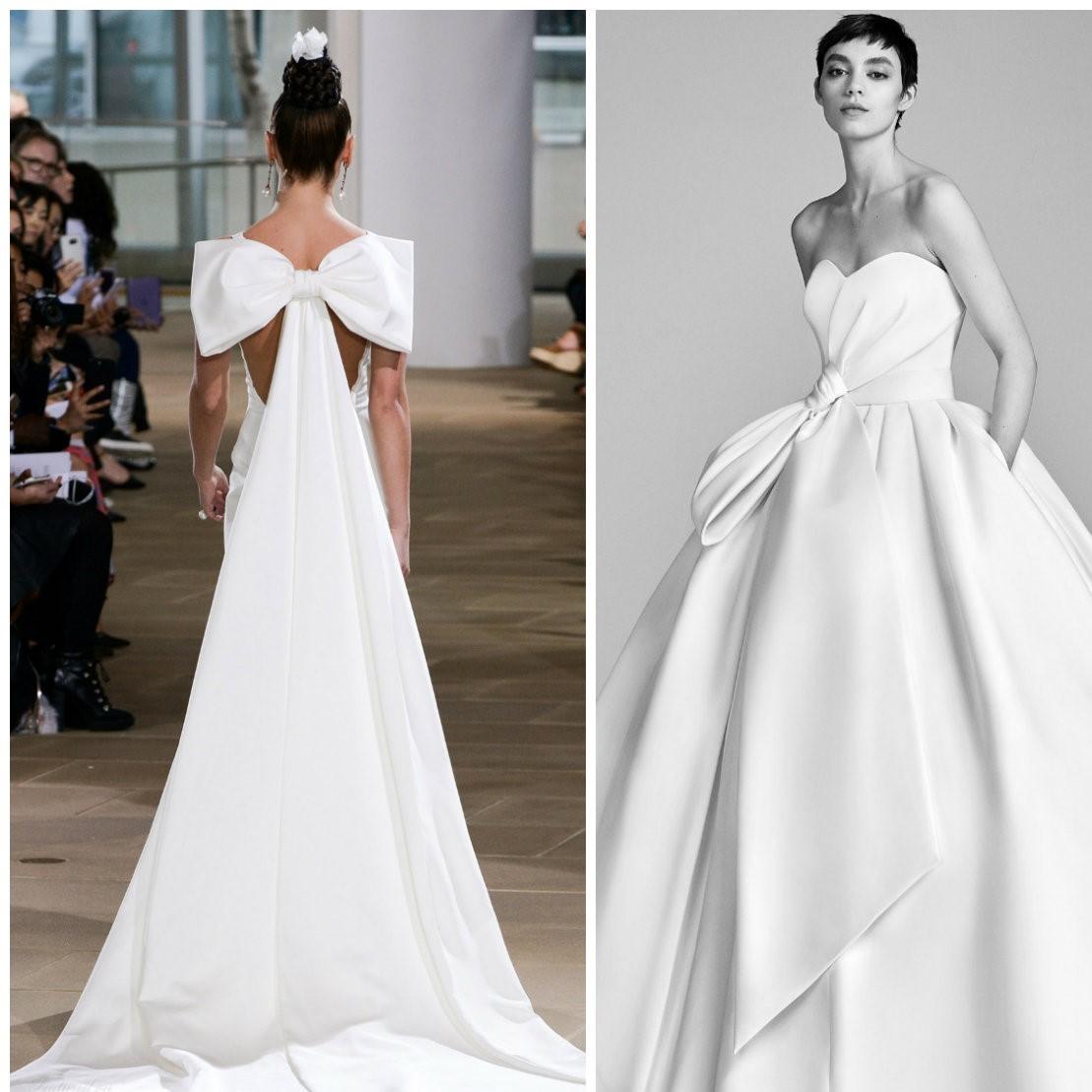 vestido de noiva 2018, vestido com laco