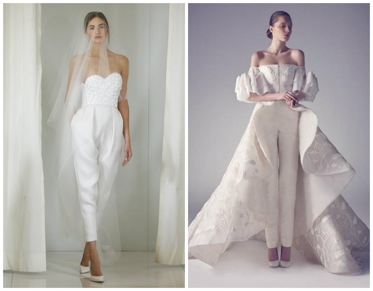 vestido de noiva 2018, ternos com calcas