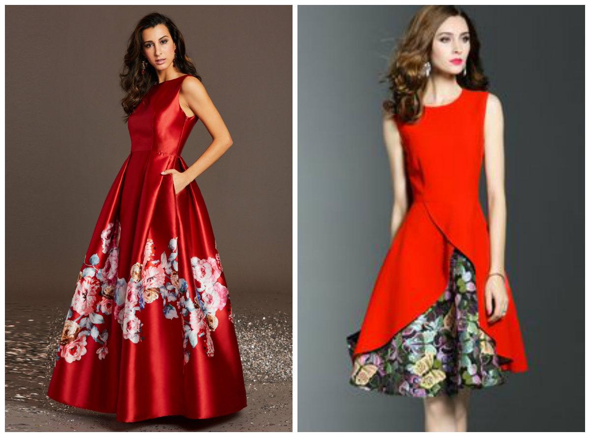 vestidos da moda 2018, vestidos com estampas florais