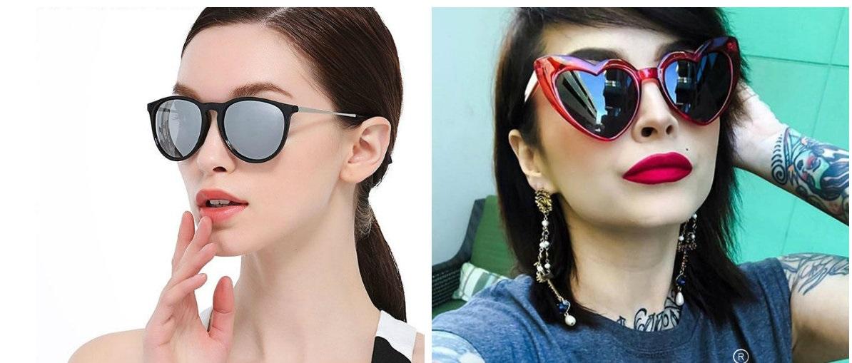 óculos de sol feminino 2019, estilo estranho
