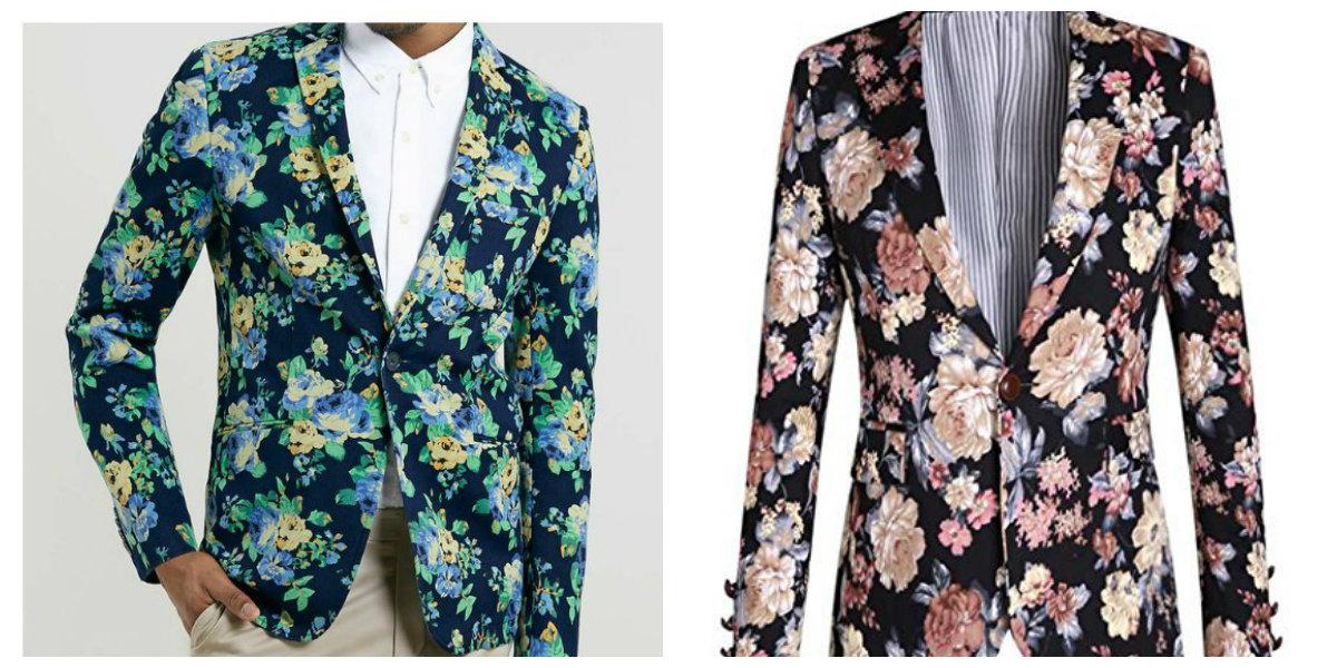 blazer masculino 2019 , bordado floral