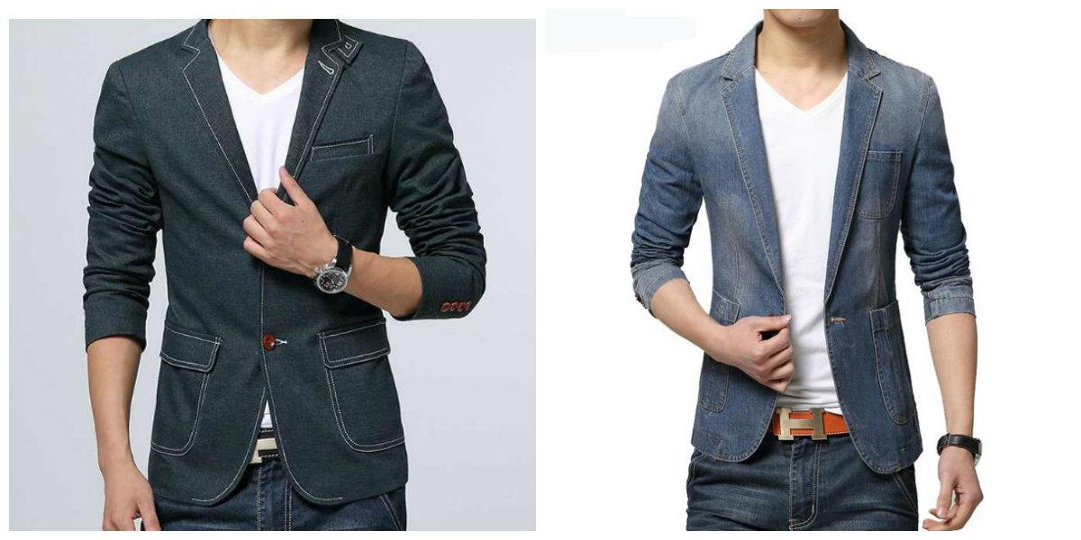 blazer masculino 2019, blazer de jeans