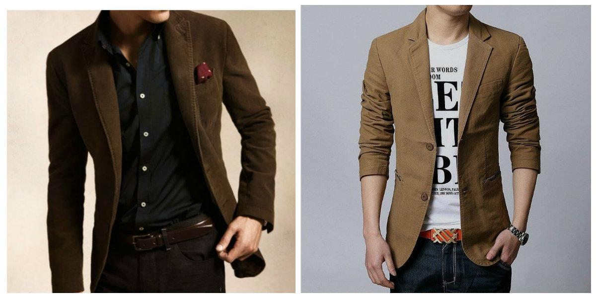 blazer masculino 2019, blazer de cor marrom, tecido de veludo