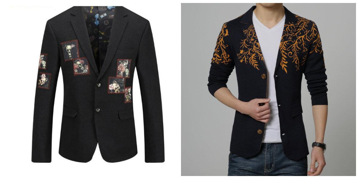 blazer masculino 2019, blazer com estampas florais