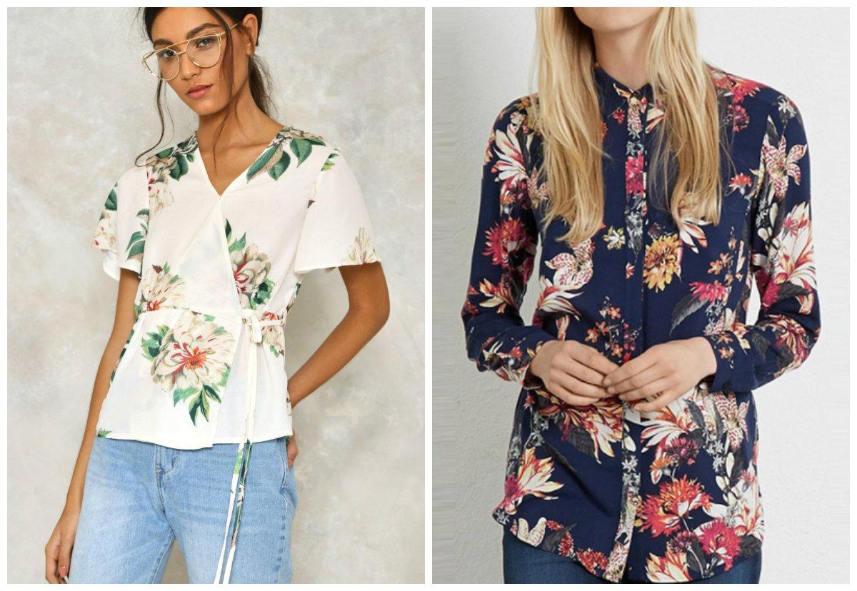 blusas 2019, camisa com padrao floral
