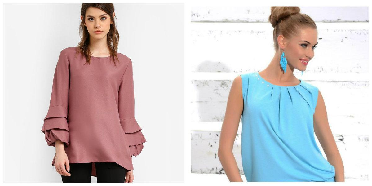 blusas femininas 2019, blusas sem colarinho