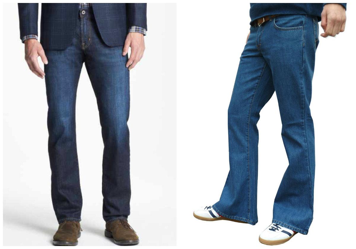 calça jeans masculina 2018, modelos boca-de-sino,modelos estreitos