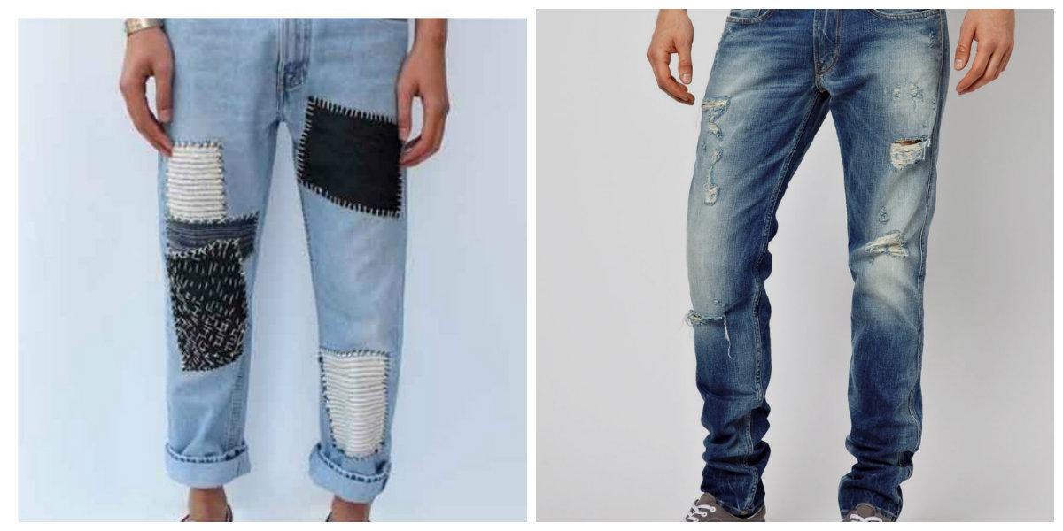 calça jeans masculina 2018, modelo grunge