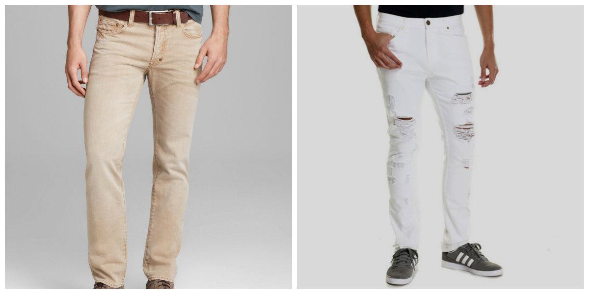 calça jeans masculina 2018, jeans de branca, beige
