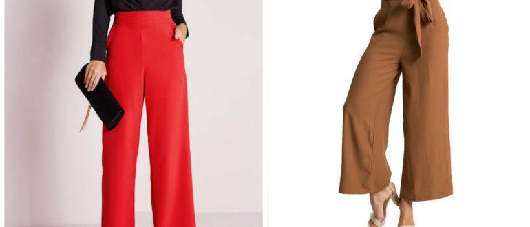 calças femininas 2018, calças de cores marrom e vermelha