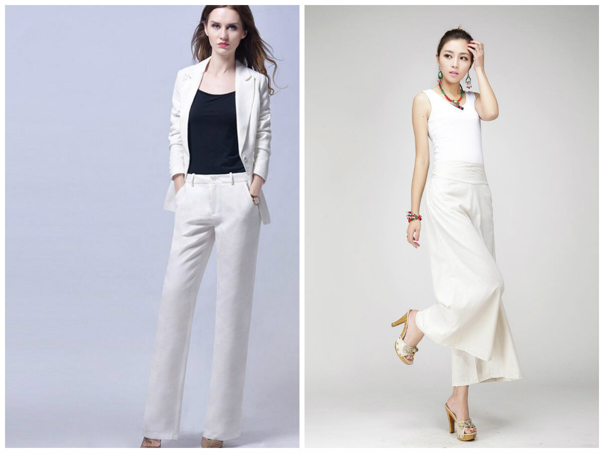 calças femininas 2019, calças brancas