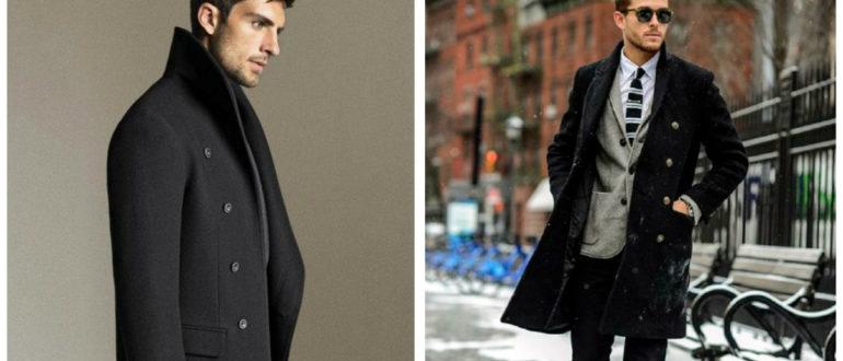 casacos masculinos 2018, casacos reto, com colarinho duplo