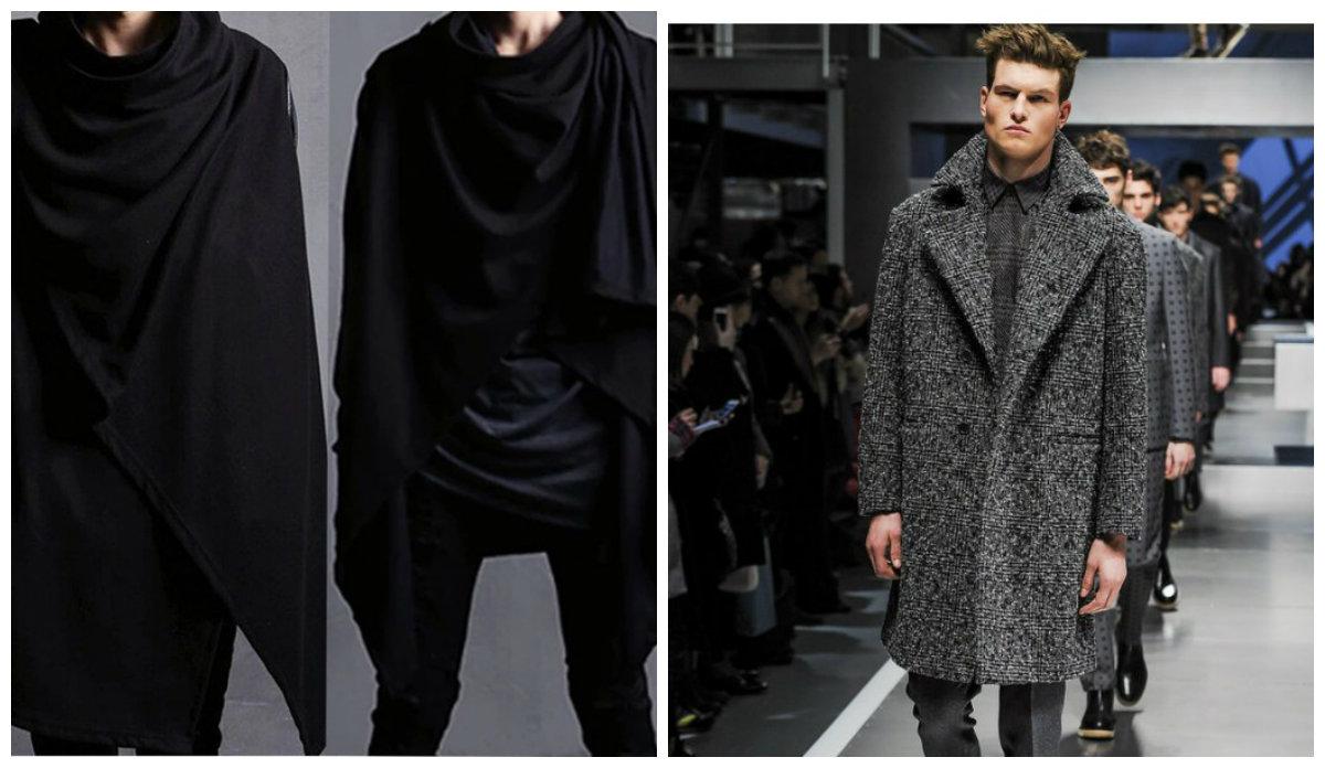 casacos masculinos 2018, casacos de drape