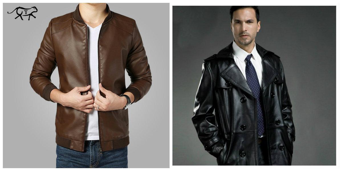 casacos masculinos 2018, casacos de couro