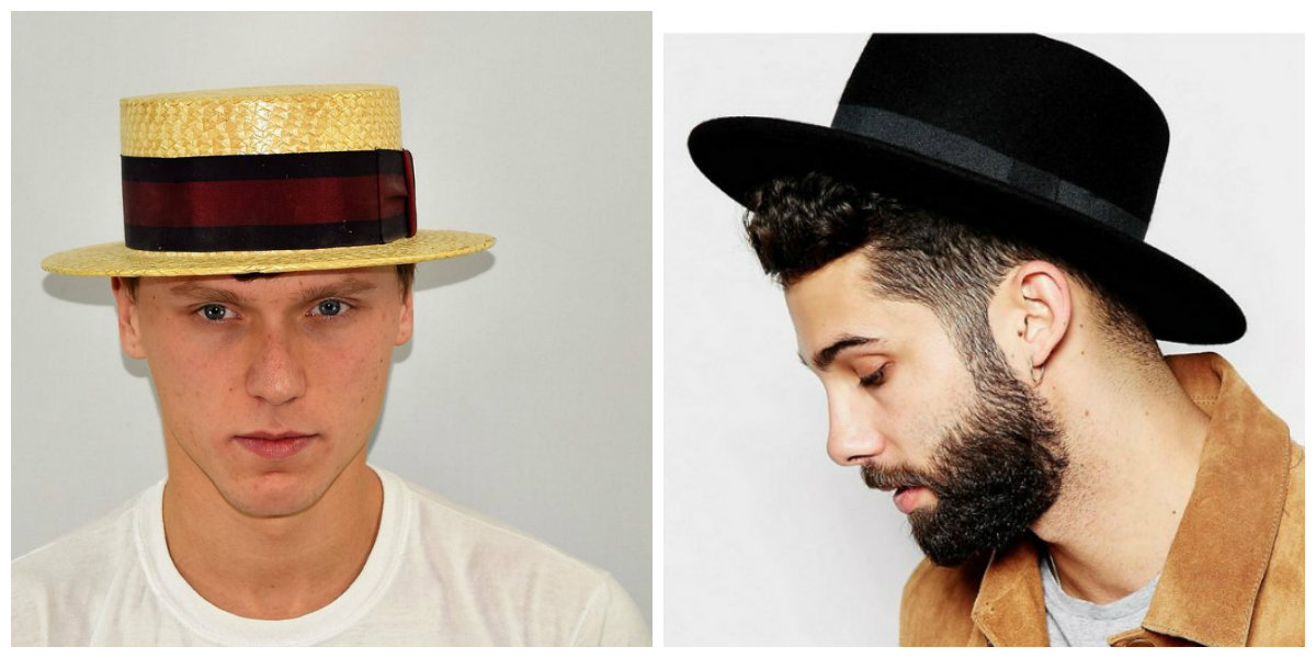 chapéu masculino 2019, estilo Boater