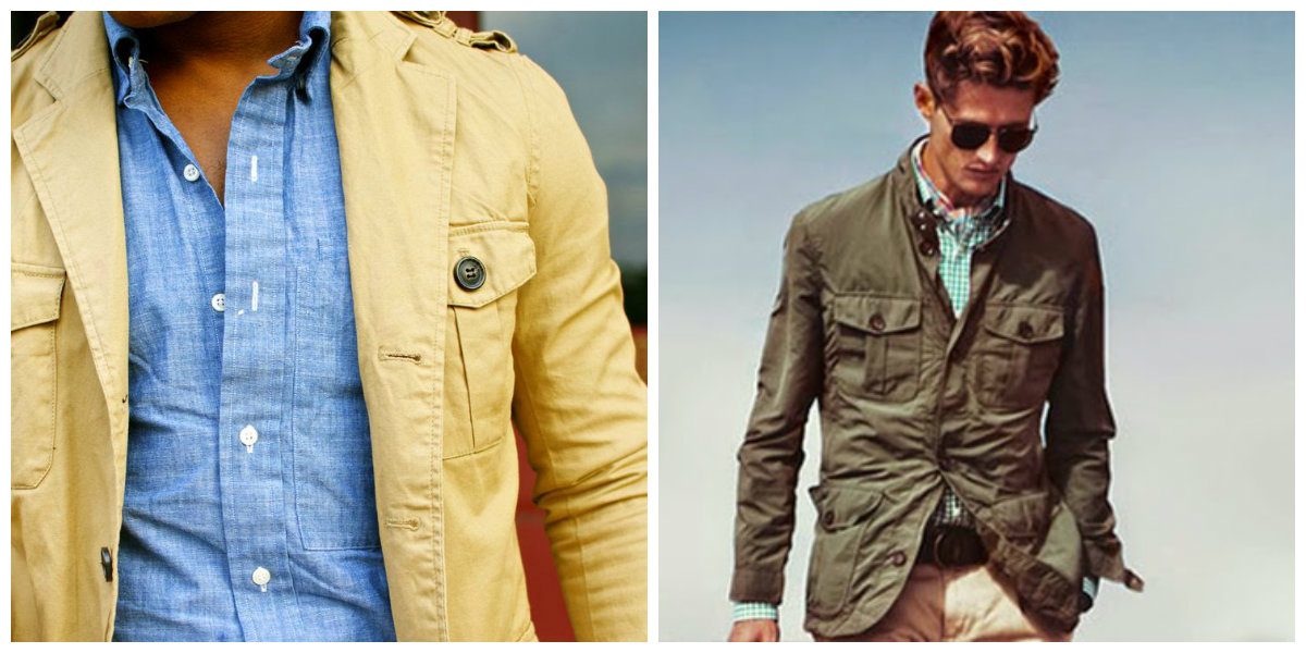 jaquetas masculinas 2018, jaquetas de estilo Safari