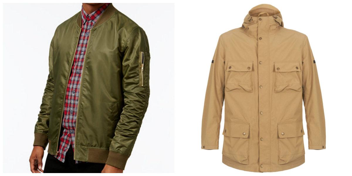 jaquetas masculinas 2018, jaquetas de cor areia, e de cor oliva