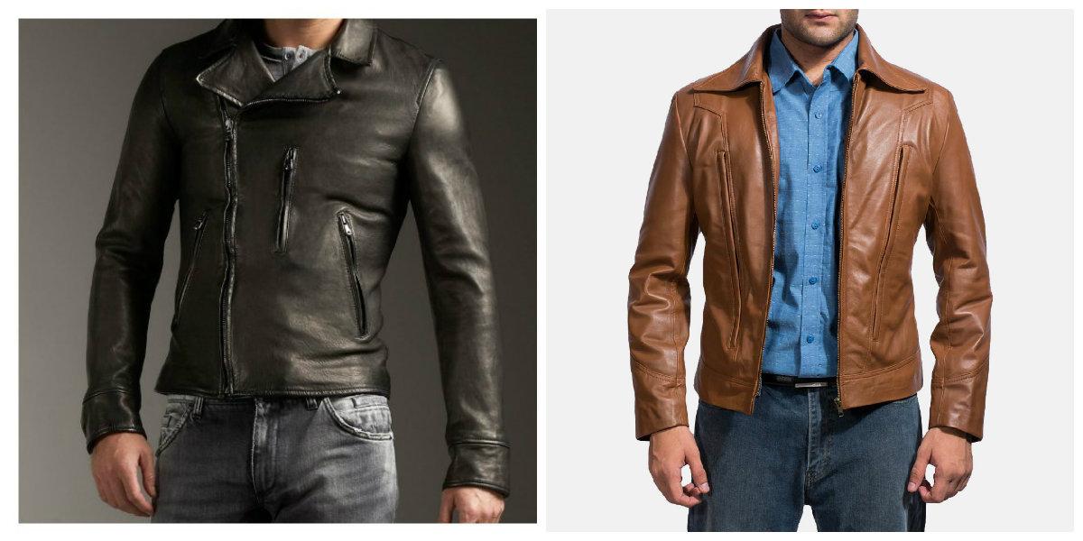 jaquetas masculinas 2018, jaquetas de couro de cor preta e marrom