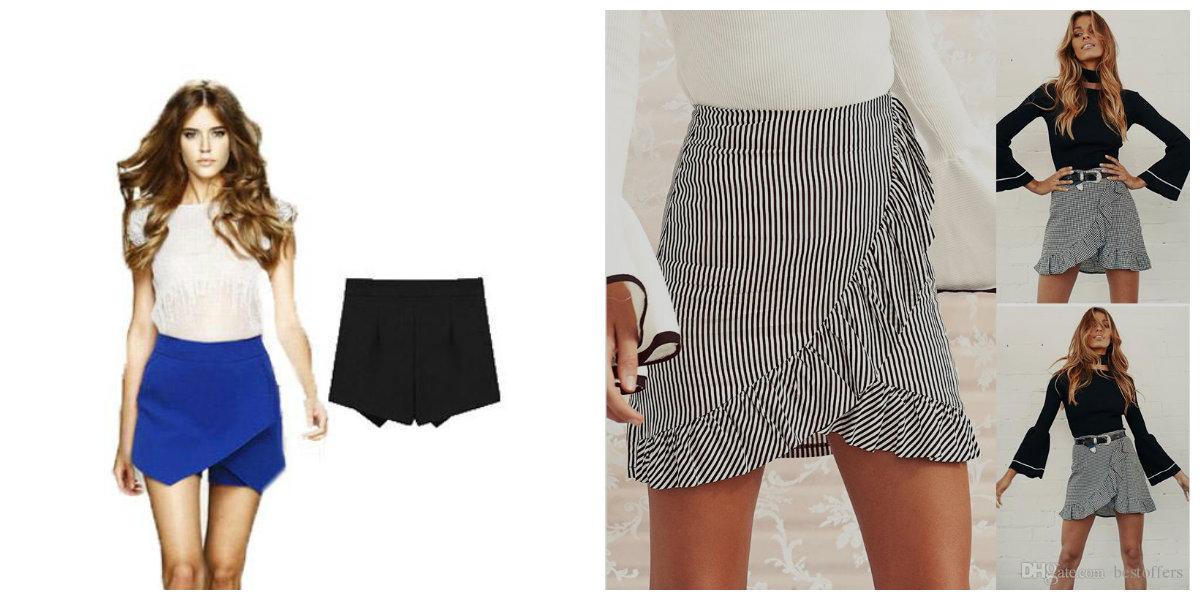 moda feminina 2019, saia shorts