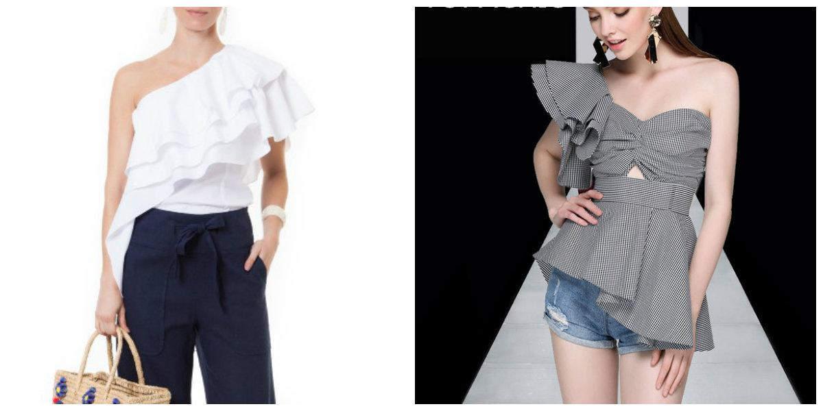 moda feminina 2019, blusas asimetricas de um ombro