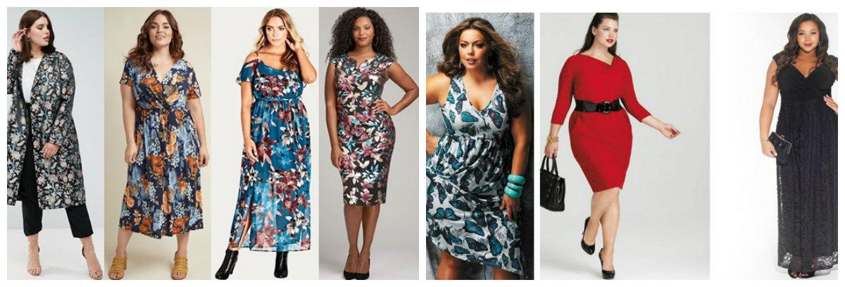moda plus size 2019, vestidos em silhueta de pescoco V
