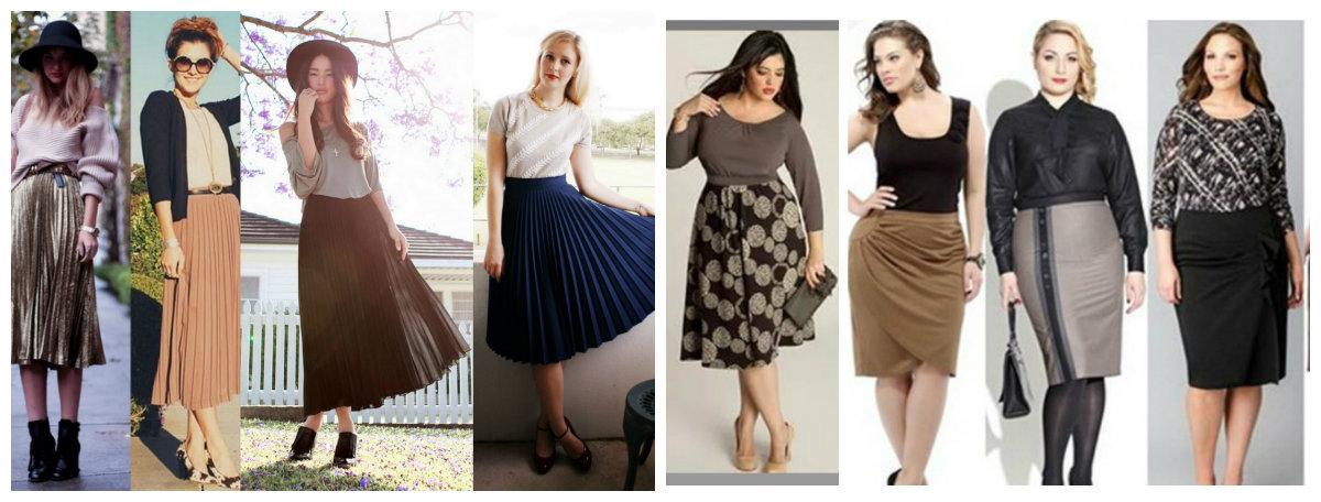 moda plus size 2019, saias plissadas, lapis